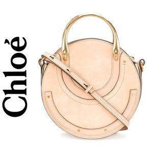 Chloe Small Pixie Round Bag in Biscuit Pink